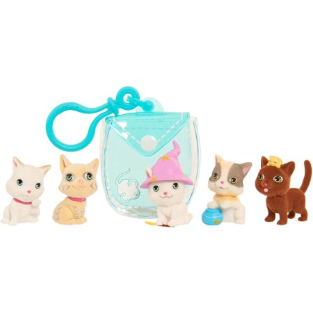 Kitty In My Pocket Kittens with Teal Pocket Pouch - Pink And Blue My Little Pony