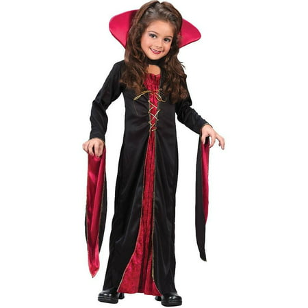 Child Vampire Costume - Victorian Vampiress - Small (4-6) - Goth Vampire Costume