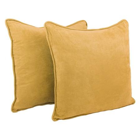 Blazing Needles Microsuede Throw Pillows - Set of 2