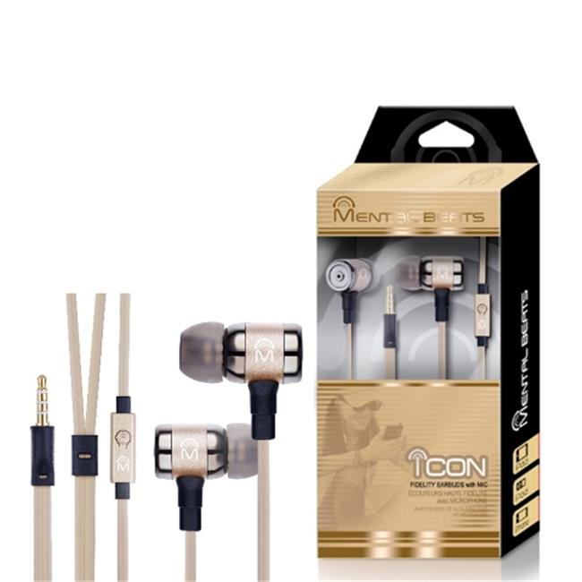 Mental Beats 677 Mental Beats Icon Earbuds, Gold
