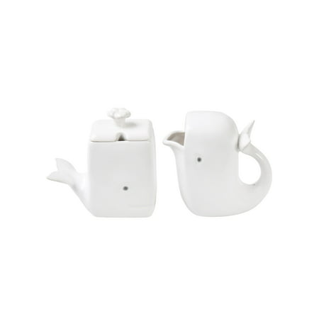 Rose Cream Pitcher (What On Earth White Whale Creamer & Sugar Set - Dolomite Cream Pitcher & Sugar)