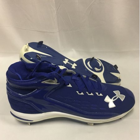 NEW Mens Under Armour Yard II 5/8 Pro ST Baseball Cleats Blue / White Sz 14 M](Baseball Clearance Outlet)
