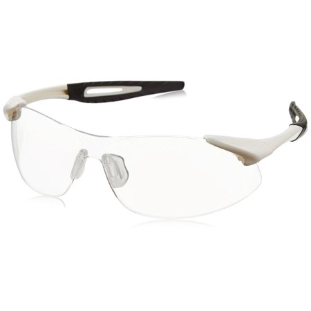 Anti Fog Safety Glasses - IA130AF Inertia Polycarbonate Safety Glasses with White Frame and Clear Anti Fog Lens, Dielectric, lightweight Inertia safety glasses with polycarbonate frame By MCR Safety