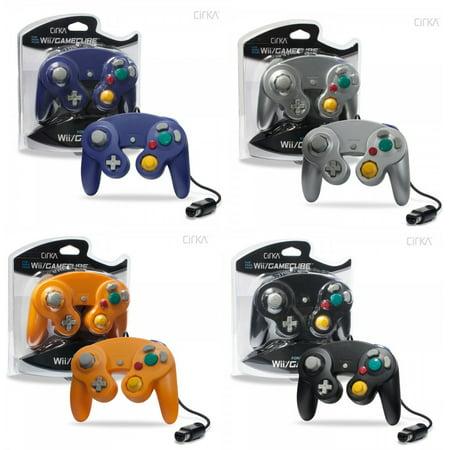 4 Controllers for Nintendo GameCube / Wii Black Platinum Orange Spice Indigo