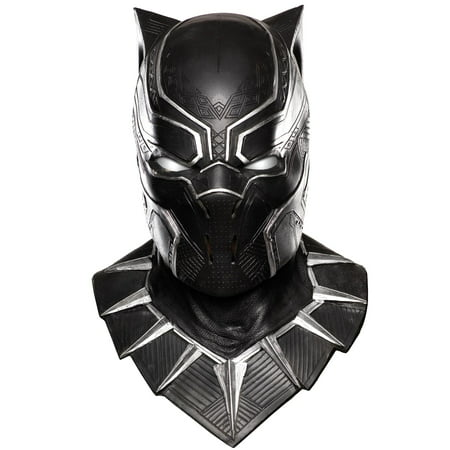 Adults Deluxe Captain America Civil War Black Panther Mask Costume Accessory - Black Face Mask Costume
