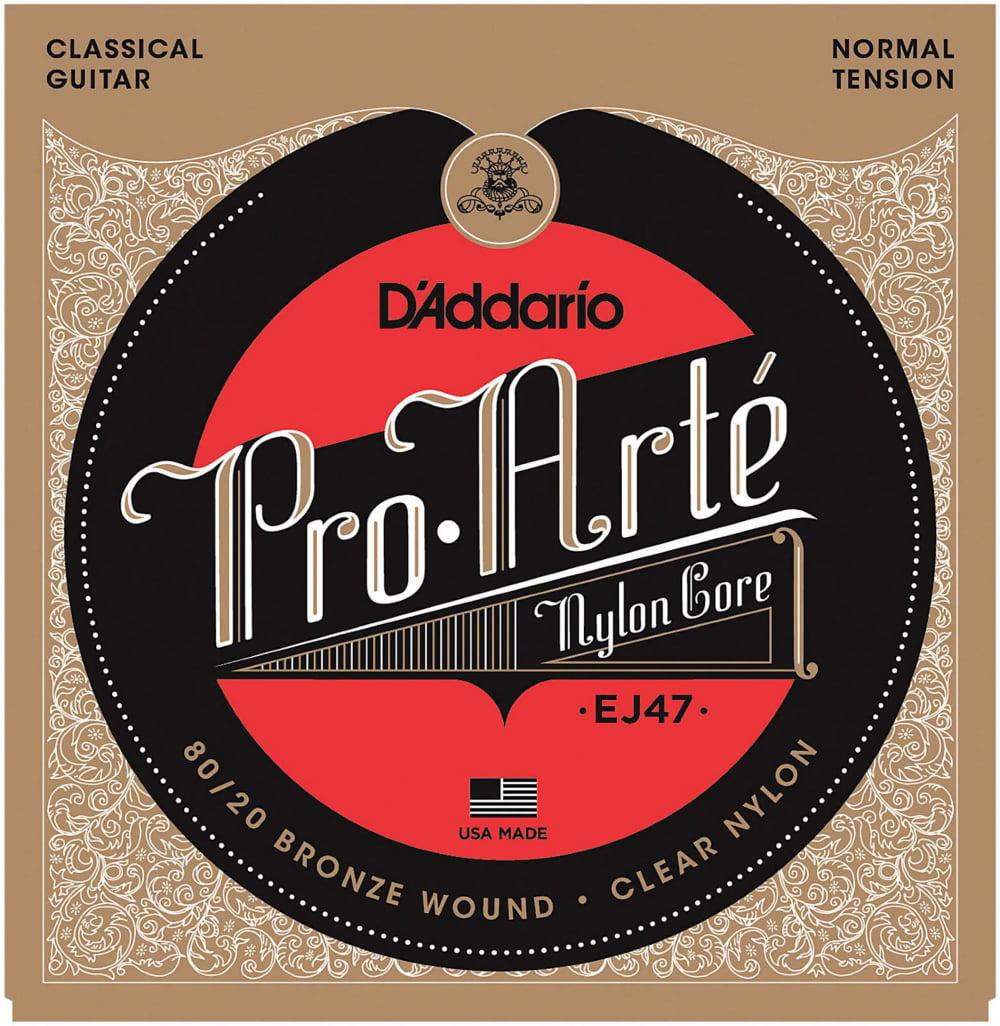 D'Addario EJ47 Pro-Arte 80 20 Bronze Normal Tension Classical Guitar Strings by D'Addario