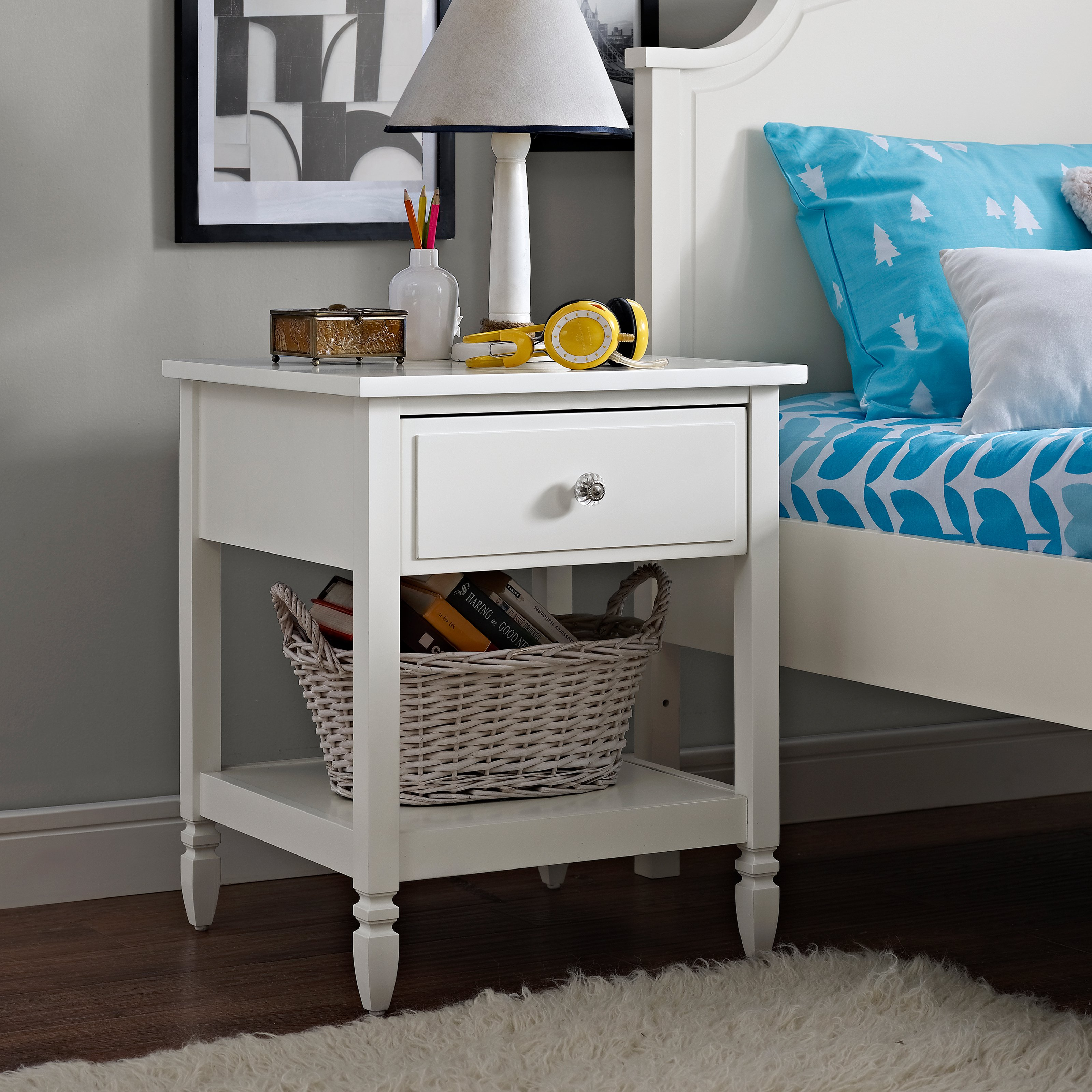 Dorel Living Vivienne Nightstand White by Dorel Asia