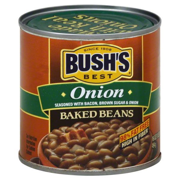 (6 Pack) Bush's Best Baked Beans Onion, 16 Oz