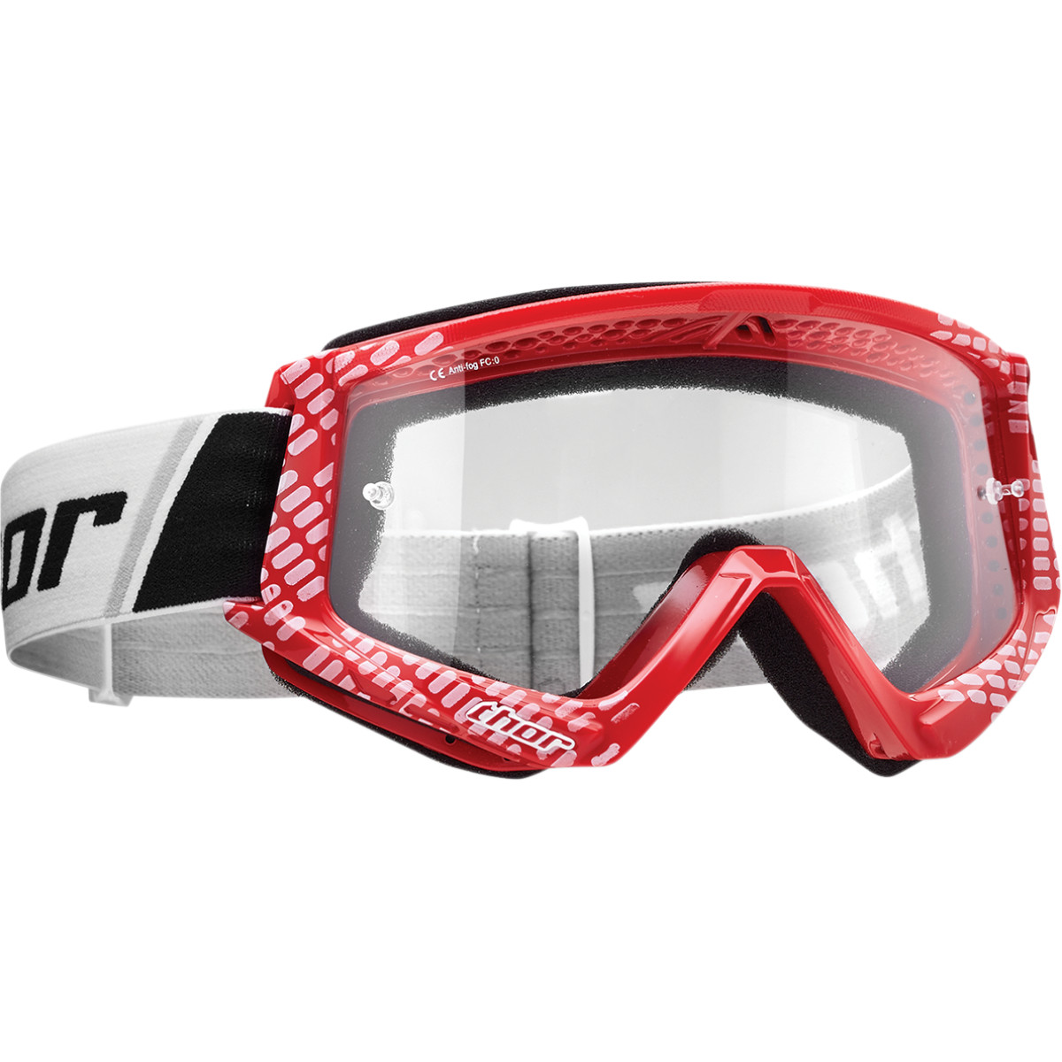 Thor Combat Goggles Off Road (Solid Black, One Size Fits Most)