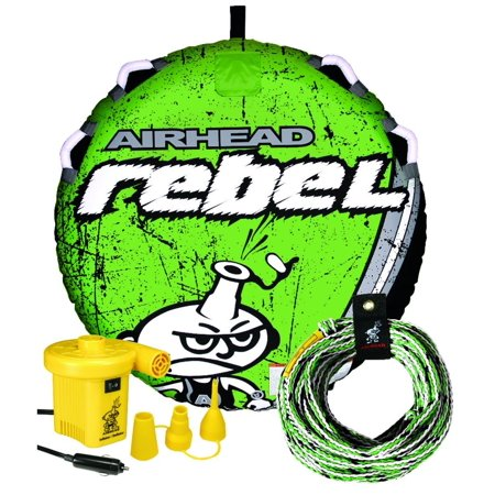 AIRHEAD AHRE-12 Rebel Tube Rope Pump Kit Inflatable Single Rider Lake Towable