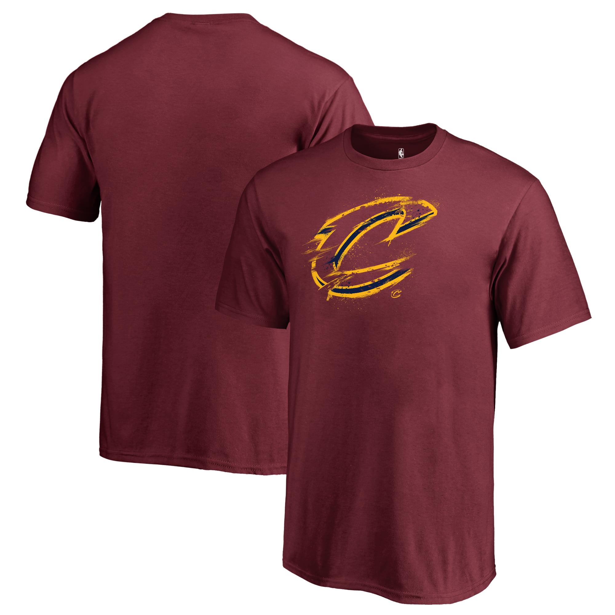 Cleveland Cavaliers Fanatics Branded Youth Splatter Logo T-Shirt - Wine