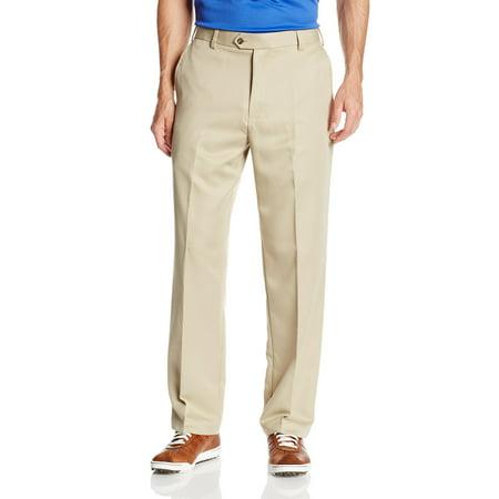 IZOD Mens 42X32 Flat Front Microsanded Golf Pants