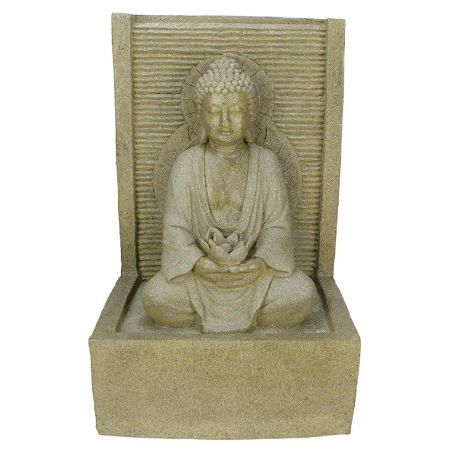 Northlight Praying Buddha Water Fountain Outdoor Statue