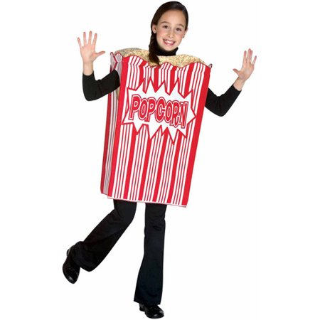 Movie Night Popcorn Child Halloween Costume, One Size, (7-10) for $<!---->