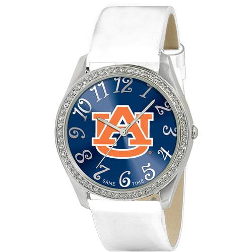 Game Time NCAA Women's Auburn University Tigers Glitz Watch, Silver