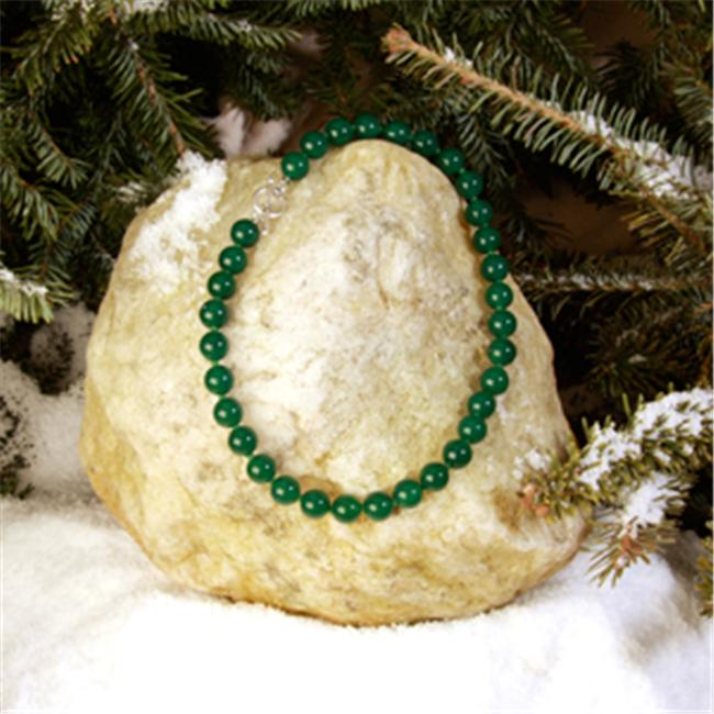 Betty Rocks BNKDGA101120020T1 20 inch 12mm Round Dyed Green Agate Necklace