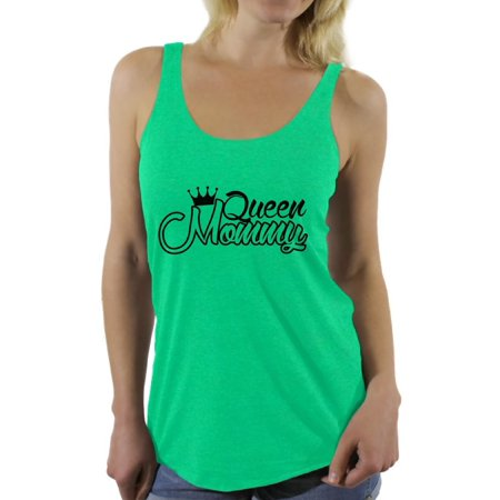 Awkward Styles Women's Queen Mommy Funny Royal Graphic Racerback Tank Tops Gift for Mom