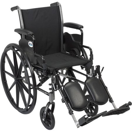 Drive Medical Cruiser Iii Light Weight Wheelchair With Flip Back Removable Arms  Desk Arms  Elevating Leg Rests  20  Seat
