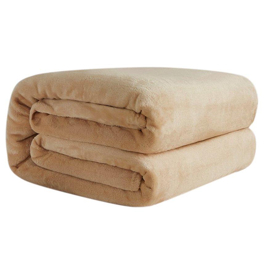 Solid Color Blanket Coral Fleece Comfortable Sleeping Home Bed Sofa Blanket
