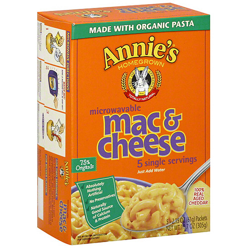 Annie's Homegrown Mac & Cheese Pasta Meals, 10.7 oz (Pack of 6)