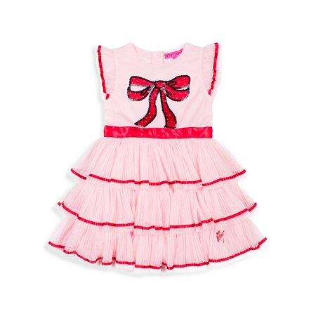 Little Girl's Ruffle Bow Dress (Betsey Johnson Womens Dress)