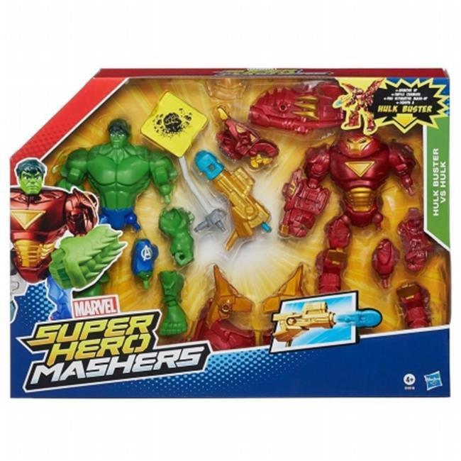 Hasbro HSBB1916 Avengers Super Hero Mashers Hulkbuster vs Hulk Mash, Pack of 4 by Hasbro