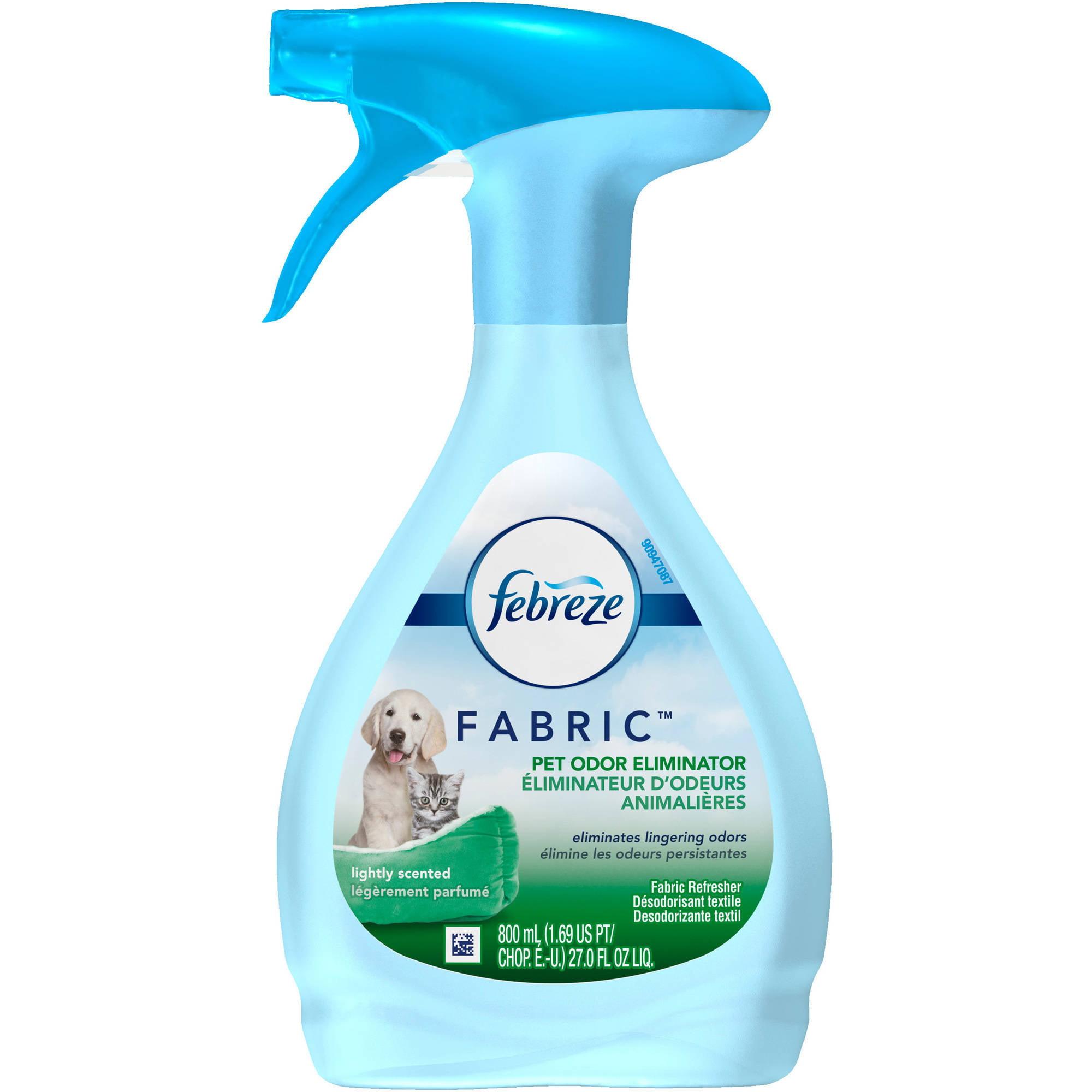 Febreze Lightly Scented Pet Odor Eliminator Fabric Refresher, 27 fl oz