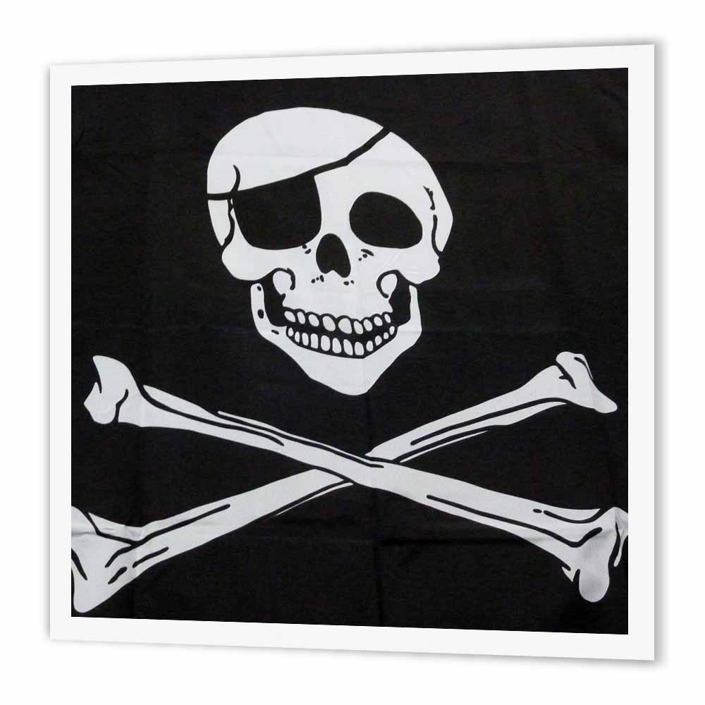 3dRose Ex Pirate, Iron On Heat Transfer, 6 by 6-inch, For White Material