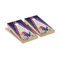 Kansas Jayhawks 2' x 4' Alternate Weathered Triangle Cornhole Board Tailgate Toss Set - No Size