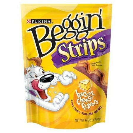 Purina Beggin Strips Bacon - Purina Beggin Strips Dog Snacks, Bacon & Cheese, 6oz