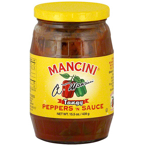 Mancini Tangy Peppers N Sauce, 15.5 oz (Pack of 12)