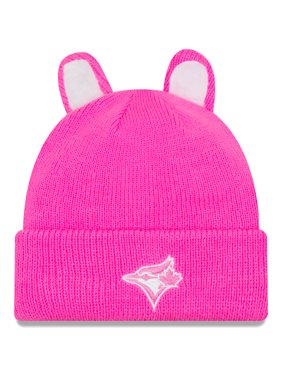 Product Image Toronto Blue Jays New Era Girls Toddler Cozy Cutie Cuffed Knit  Hat - Pink - OSFA d67cea02b