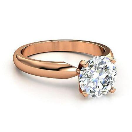 Harry Chad Enterprises 2285 Solitaire 1.01 F VS1 Gorgeous Pink Gold Diamond Ring - image 1 de 1