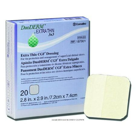 ConvaTec DuoDERM Extra Thin CGF Dressing, Duo-D Thn Drs Hydcol 6X6 in, (1 BOX, 10 EACH) Duoderm Extra Thin Cgf Dressing