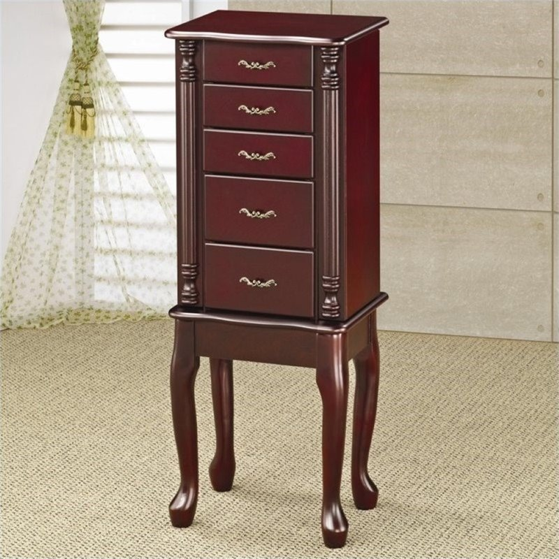 Bowery Hill Jewelry Armoire in Cherry