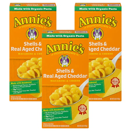 (3 Pack) Annie's Macaroni and Cheese Shells & Aged Cheddar Mac and Cheese 6