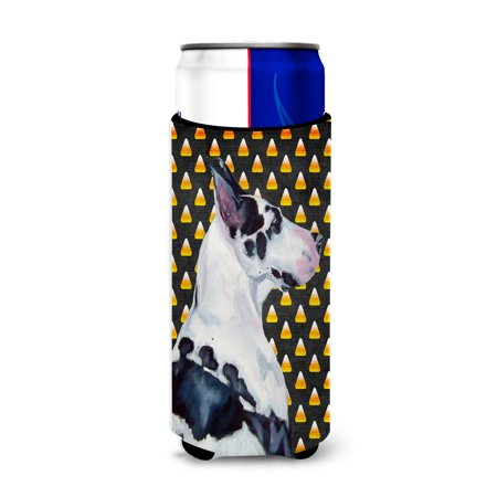 Great Dane Candy Corn Halloween Portrait Ultra Beverage Insulators for slim cans LH9067MUK](Great Dane Horse Halloween)