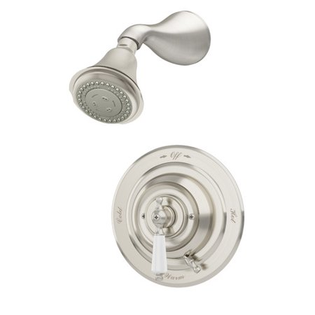 Carrington Single Handle Shower Faucet with Integral Volume Control in Satin Nickel