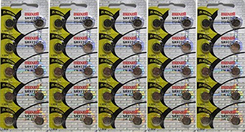 Maxell 395 Watch and Calculator Batteries x 50 by Maxell