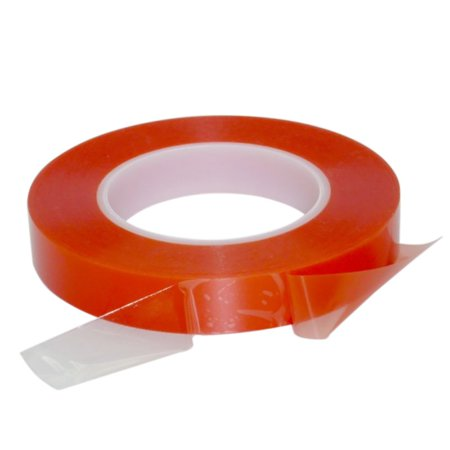 AngelCity 2/3mm 50M Double Sided Red Masking Tape,Strong Adhesive Red Film Tape For Mobile Phone LCD Pannel Display Screen