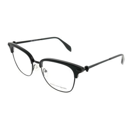 Alexander McQueen Iconic AM 0152O 001 Unisex  Square Eyeglasses (Alexander Mcqueen Eyeglasses)