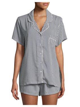 Notch Collar Shortie Pajama Set