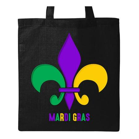Mardi Gras Fleur De Lis Tote Bag Black One Size