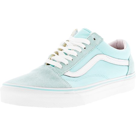 Vans Old Skool Aruba Blue / True White Ankle-High Skateboarding Shoe - 9.5M 8M - Girls Cheetah Vans