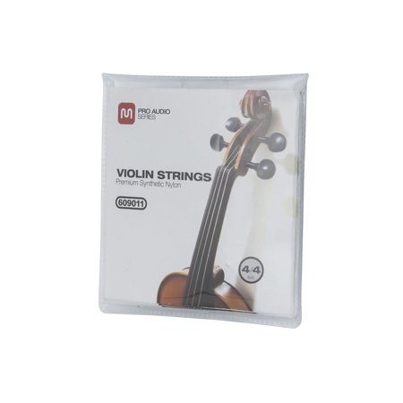 MONOPRICE Violin Strings, Premium Synthetic, Size 4/4