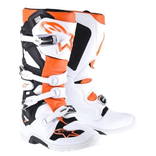 Alpinestars Tech 7 Enduro Mens MX/Offroad Boots White/Orange 11