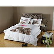 Dolce Mela DM486Q 6 Piece Fun Animal Print Bedding Duvet Cover Sheet Set, Queen
