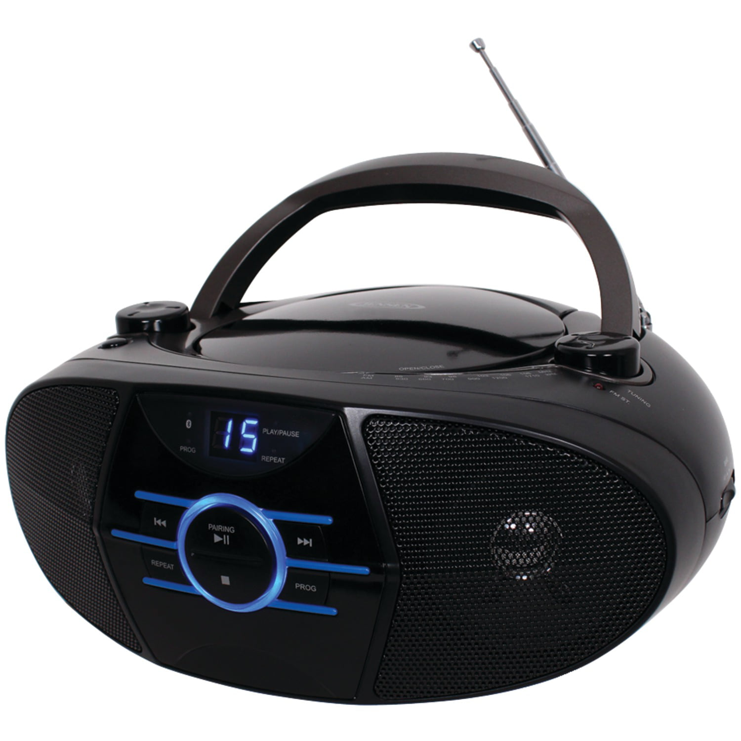 JENSEN CD-560 Portable Stereo CD Player with AM FM Stereo Radio & Bluetooth by Jensen