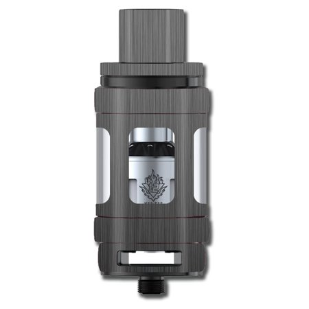 Skin Decal For Smok Tfv12 Cloud Beast King Tank Vape Mod / Brushed Metallic