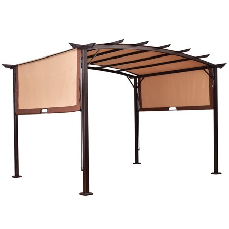 Gymax 12' x 9' Pergola Kit Metal Frame Gazebo Canopy Cover Patio Shelter - Gymax 12' X 9' Pergola Kit Metal Frame Gazebo Canopy Cover Patio